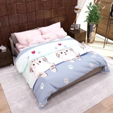 Комплект дитячої постільної білизни Кіт карапуз Бязь