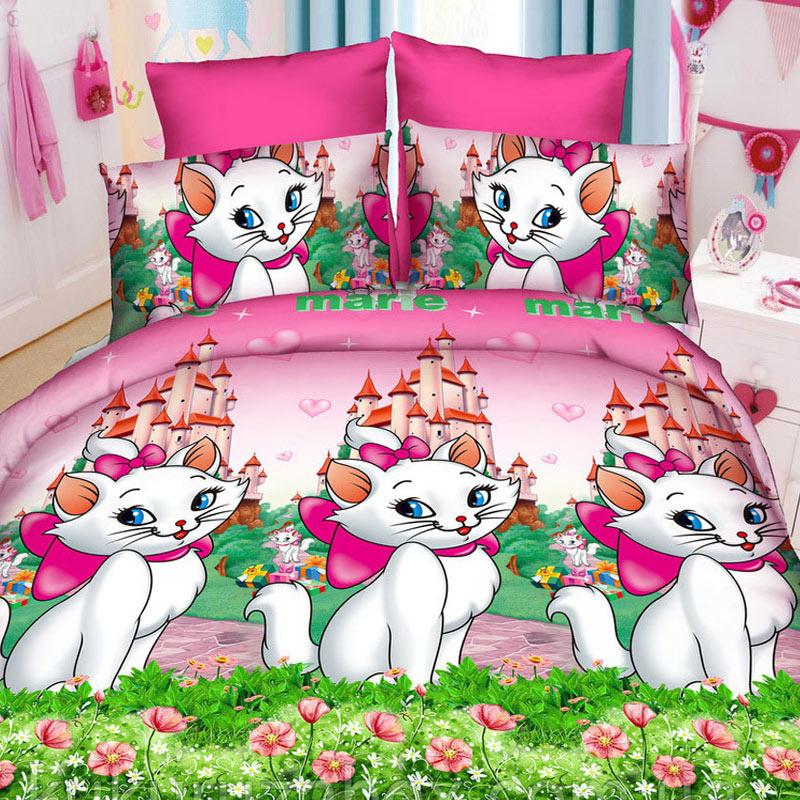 Комплект дитячої постільної білизни Кішка Марі Ранфорс
