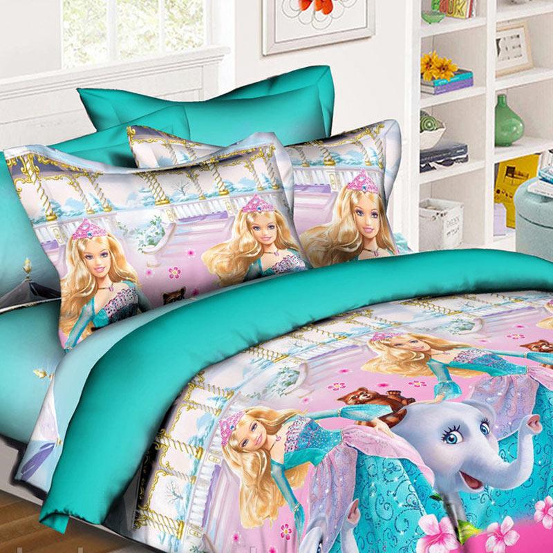 Комплект дитячої постільної білизни Барбі та слоник