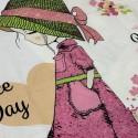 Комплект дитячої постільної білизни Дівчинка в шляпі Бязь