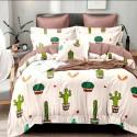 Комплект постільної білизни Яскраві кактуси Бязь Голд