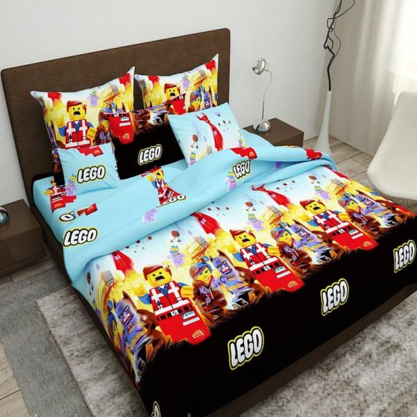 Комплект дитячої постільної білизни Лего Бязь
