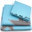 Комплект постільної білизни Зірки на блакитному Бязь Голд