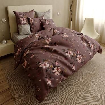 Комплект постільної білизни Рожевий букет Бязь Голд