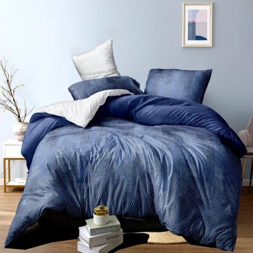 Комплект постільної білизни Синя хвиля Сатин
