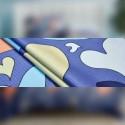 Сімейний комплект постільної білизни Сердечки на синьому Сатин