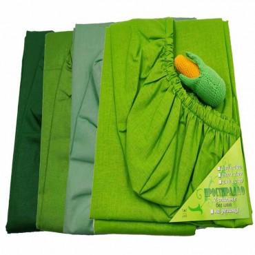 Простирадло на резинці Зелене в асортименті Бязь